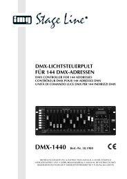 dmx-lichtsteuerpult für 144 dmx-adressen - Sound Light Motion