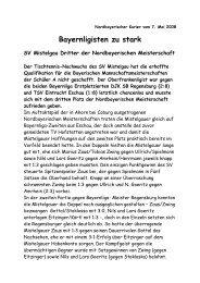 Siehe Bericht v. Reiner Goeritz! - Tt-mistelgau.de
