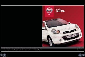 brochure på Nissan Micra