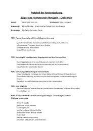 Protokoll der Vorstandssitzung Bürger-und ... - Protokolle