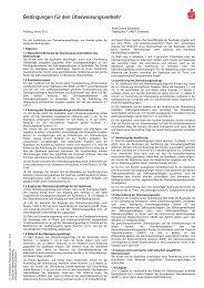 Bedingungen f r den erweisungsverkehr - Nord-Ostsee Sparkasse