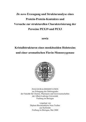 De novo Erzeugung und Strukturanalyse eines Protein-Protein ...