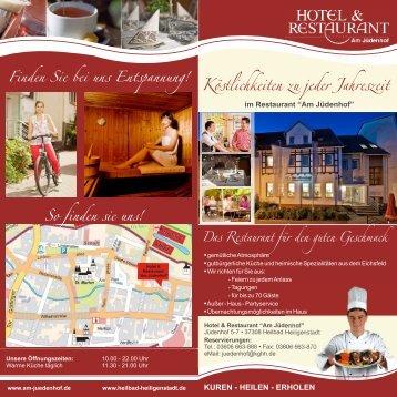 Köstlichkeiten zu jeder Jahreszeit - Hotel am Jüdenhof