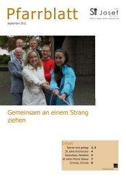 Thema im Pfarrblatt Herbst 2012 - pfarre wels st.josef