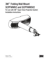 3M™ Folding Wall Mount SCPFWMV2 and SCPFWMSV2
