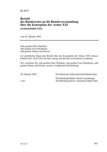 Armeeleitbild XXI - admin.ch