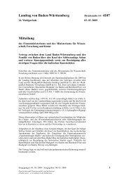 Landtag von Baden-Württemberg Mitteilung