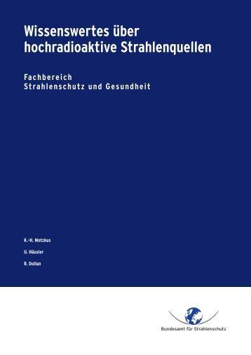 Wissenswertes über hochradioaktive Strahlenquellen - DORIS ...