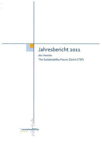 Jahresbericht 2011 - The Sustainability Forum