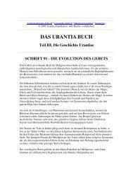 Das Urantia Buch - Schrift 91 - Die Evolution des Gebetes