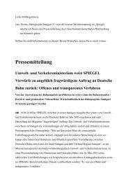 Pressemitteilung des Umweltministeriums Baden ... - Manfred Groh