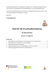 Obst für die Fruchtsaftherstellung - Oekolandbau.de