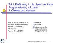 01-object-orientatio.. - Lehrstuhl Softwaretechnologie