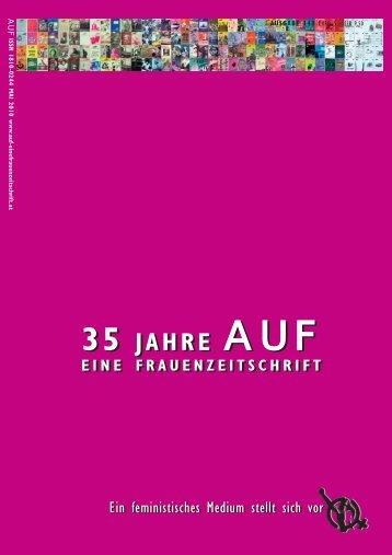 Sonderheft AUF Nr 148 – auf 16 Seiten - Eine Frauenzeitschrift