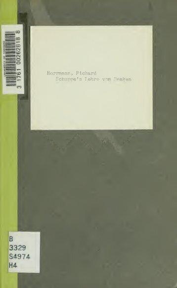 Schuppe's Lehre vom Denken, kritisch beleuchtet. Von Richard ...
