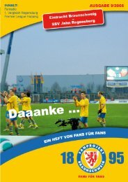 Heft 09: Jahn Regensburg - FanPresse Braunschweig