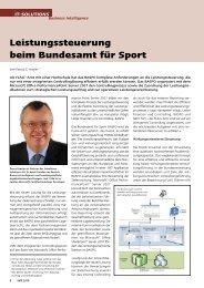 Leistungssteuerung beim Bundesamt für Sport - Advellence
