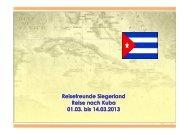 Reisepräsentation Kuba Infoabend 26.01.2013 - T-Online