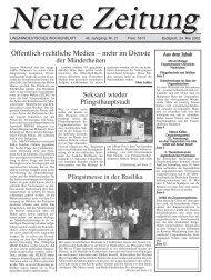 Öffentlich-rechtliche Medien – mehr im Dienste der ... - Neue Zeitung