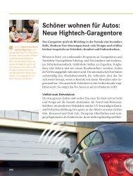 schöner wohnen für autos: neue hightech-garagentore - Hörmann KG