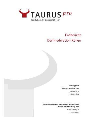 Abschlussbericht der Moderation