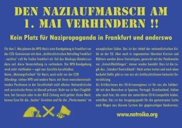 DEN NAZIAUFMARSCH AM 1. MAI VERHINDERN !!