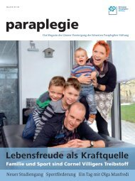 Paraplegie Nr. 146, Mai 2013 (PDF, 5 MB) - Schweizer Paraplegiker ...