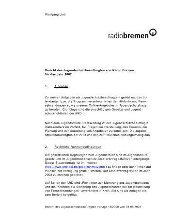 Wolfgang Lintl Bericht des ... - Radio Bremen