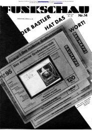 Funkschau, 4. Jahrgang, 1931 Heft 14 - Radiomuseum.org