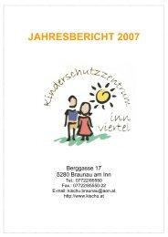 JAHRESBERICHT 2007 - Kinderschutzzentrum Innviertel
