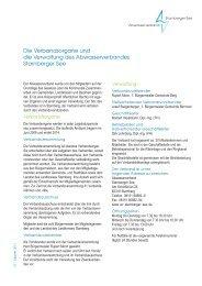 Die Verbandsorgane und die Verwaltung des Abwasserverbandes ...