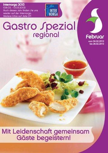 Gastro Spezial Regional - Februar 2013 - Recker-feinkost.de