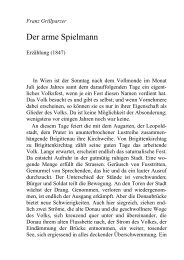 Der arme Spielmann, by Franz Grillparzer