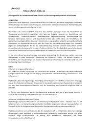 Netzwerk Fanarbeit Schweiz (FaCH) Haltungspapier Pyro