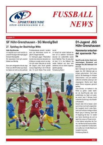 SF H ¨ohr-Grenzhausen - SportFreunde Höhr-Grenzhausen e.V.