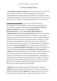 9. Vorlesung – Klassische Moderne - Expressionismus, Futurismus ...