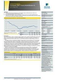 Aviva Investors European REIT Fund (Anteilsklasse A) - fundinfo.com