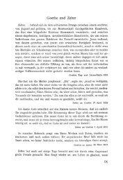 Goethe und Zelter - von Katharina Mommsen