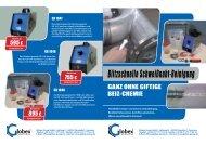 Blitzschnelle Schweißnaht-Reinigung - Globex-Group GmbH