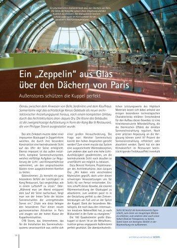 """Ein """"Zeppelin"""" aus Glas über den Dächern von Paris - sicht + ..."""