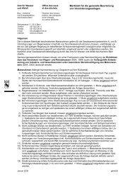 Merkblatt für die generelle Beurteilung von ... - Bau-, Verkehrs