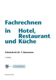 Fachrechnen in Hotel, Restaurant und Küche - Europa-Lehrmittel