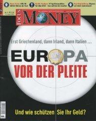 Focus Money - Europa vor der Pleite? 13. 01. 2010 Die ...