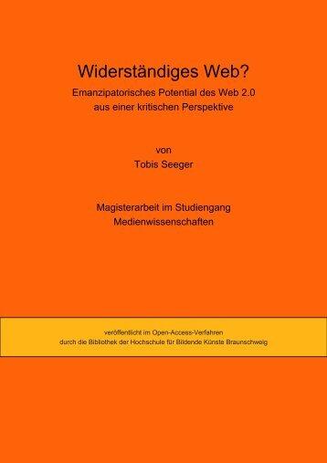 3.5. Gegenöffentlichkeit und das Web 2.0 - OPUS - Hochschule für ...