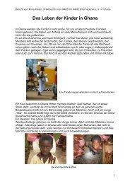 Das Leben der Kinder in Ghana - Hand in Hand International eV