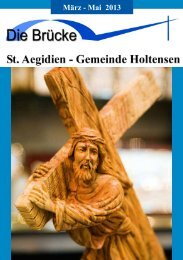 Brücke Frühjahr 2013 - St. Aegidien-Kirchengemeinde Holtensen ...