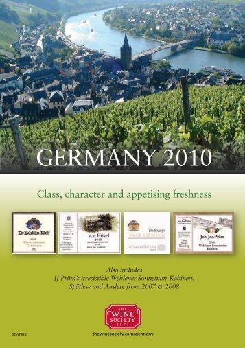 GERMANY 2010 - The Wine Society