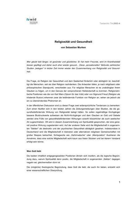 Sebastian Murken - fowid - Forschungsgruppe Weltanschauungen ...