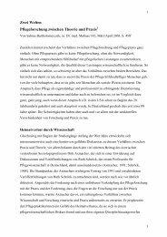 Zwei Welten Pflegeforschung zwischen Theorie ... - Mabuse Verlag
