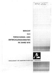 bericht forschungs· und entwicklungsarbeiten im jahre ... - Bibliothek